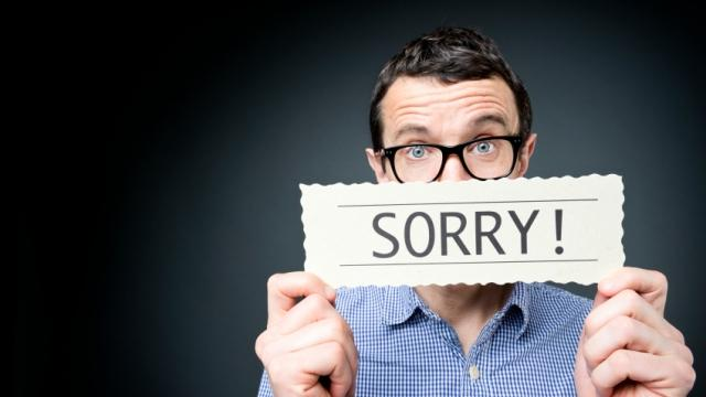 sorry - marketing de gentileza